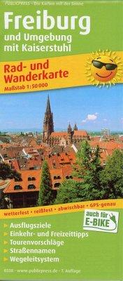 PublicPress Rad- und Wanderkarte Freiburg und Umgebung mit Kaiserstuhl