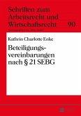 Beteiligungsvereinbarungen nach 21 SEBG (eBook, PDF)