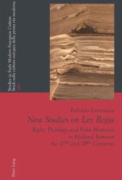 New Studies on Lex Regia (eBook, PDF) - Lomonaco, Fabrizio