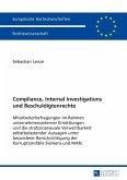 Compliance, Internal Investigations und Beschuldigtenrechte (eBook, ePUB)