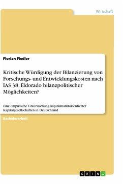 Kritische Würdigung Der Bilanzierung Von Forschungs Und