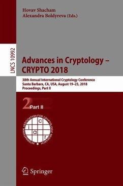 Advances in Cryptology - CRYPTO 2018