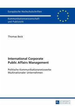 International Corporate Public Affairs Management