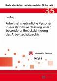 Arbeitnehmeraehnliche Personen in der Betriebsverfassung unter besonderer Beruecksichtigung des Arbeitsschutzrechts (eBook, PDF)