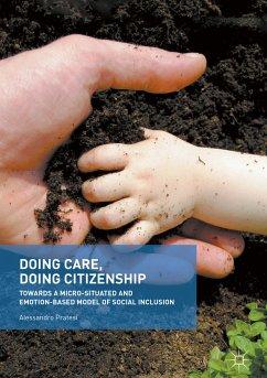 Doing Care, Doing Citizenship (eBook, PDF) - Pratesi, Alessandro