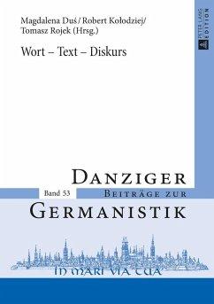 Wort - Text - Diskurs (eBook, ePUB)
