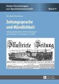 Zeitungssprache und Muendlichkeit (eBook, PDF)