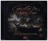 Die geheimnisvollen Fälle von Edgar Allan Poe und Auguste Dupin - Insel der tödlichen Rätsel, 1 Audio-CD