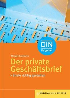 Der private Geschäftsbrief (eBook, PDF) - Goldmann, Melanie