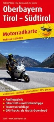 PublicPress Motorradkarte Oberbayern - Tirol - ...