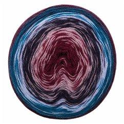 Wolle Dégradé Dreieckstuch Super6 Blau-Lila
