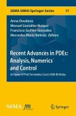 Recent Advances in PDEs: Analysis, Numerics and Control