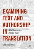 Examining Text and Authorship in Translation (eBook, PDF)