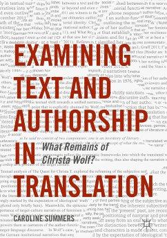 Examining Text and Authorship in Translation (eBook, PDF) - Summers, Caroline