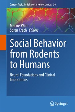 Social Behavior from Rodents to Humans (eBook, PDF)