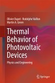 Thermal Behavior of Photovoltaic Devices (eBook, PDF)