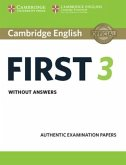 Cambridge English First 3 - Student's Book without answers