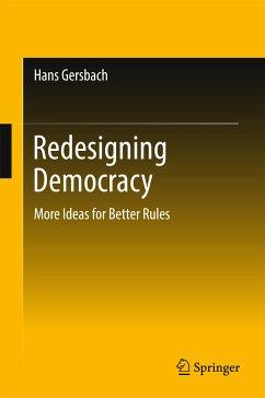 Redesigning Democracy (eBook, PDF) - Gersbach, Hans