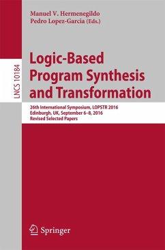 Logic-Based Program Synthesis and Transformation (eBook, PDF)