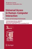 Universal Access in Human-Computer Interaction. Human and Technological Environments (eBook, PDF)