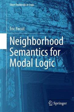 Neighborhood Semantics for Modal Logic (eBook, PDF) - Pacuit, Eric