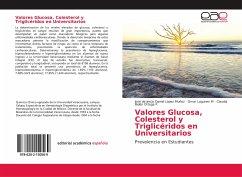 Valores Glucosa, Colesterol y Triglicéridos en Universitarios