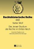 Das Jenaer Studium der Rechte im Dritten Reich (eBook, PDF)
