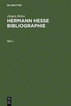 Hermann Hesse Bibliographie (eBook, PDF) - Below, Jürgen