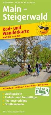 PublicPress Rad- und Wanderkarte Main - Steigerwald