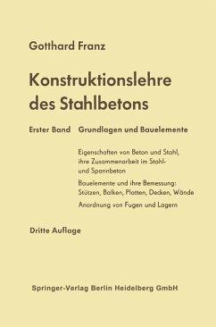 Konstruktionslehre des Stahlbetons (eBook, PDF) - Franz, Gotthard
