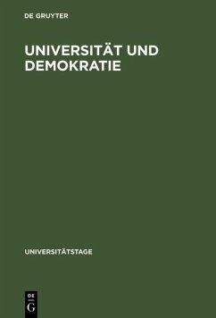 Universität und Demokratie (eBook, PDF)