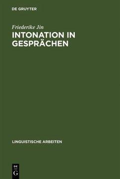 Intonation in Gesprächen (eBook, PDF) - Jin, Friederike