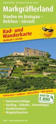 PublicPress Rad- und Wanderkarte Markgräflerland