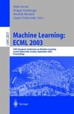Machine Learning: ECML 2003 (eBook, PDF)