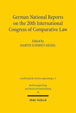German National Reports on the 20th International Congress of Comparative Law (eBook, PDF)