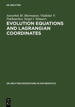 Evolution Equations and Lagrangian Coordinates (eBook, PDF) - Meirmanov, Anvarbek M.; Shmarev, Sergei I.; Pukhnachov, Vladislav V.