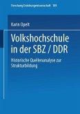 Volkshochschule in der SBZ/DDR (eBook, PDF)