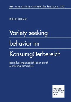 Variety-seeking-behavior im Konsumguterbereich (eBook, PDF) - Helmig, Bernd