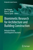 Biomimetic Research for Architecture and Building Construction (eBook, PDF)