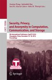 Security, Privacy, and Anonymity in Computation, Communication, and Storage (eBook, PDF)