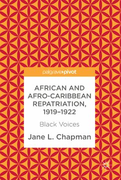 African and Afro-Caribbean Repatriation, 1919-1922 (eBook, PDF) - Chapman, Jane L.