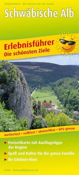 Schwäbische Alb Karte Städte.Publicpress Erlebnisführer Schwäbische Alb