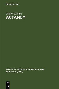 Actancy (eBook, PDF) - Lazard, Gilbert