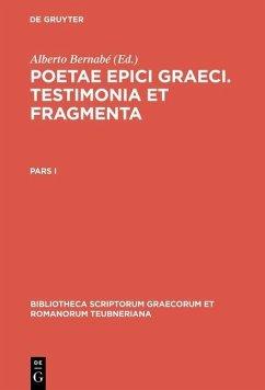Poetae epici Graeci (eBook, PDF)