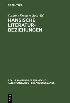 Hansische Literaturbeziehungen (eBook, PDF)