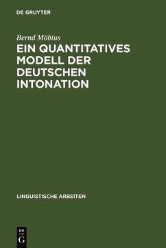 Ein quantitatives Modell der deutschen Intonation (eBook, PDF) - Möbius, Bernd
