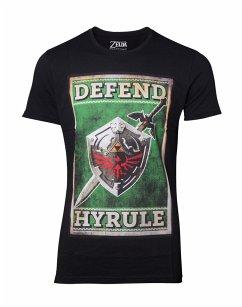Zelda T-Shirt -L- Propaganda Schwert & Schild, sch