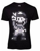 Nintendo T-Shirt -M- 16-bit Mario Peace, schwarz