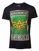 Zelda T-Shirt -S- Propaganda Hyrule, schwarz