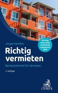 Richtig vermieten - Herrlein, Jürgen